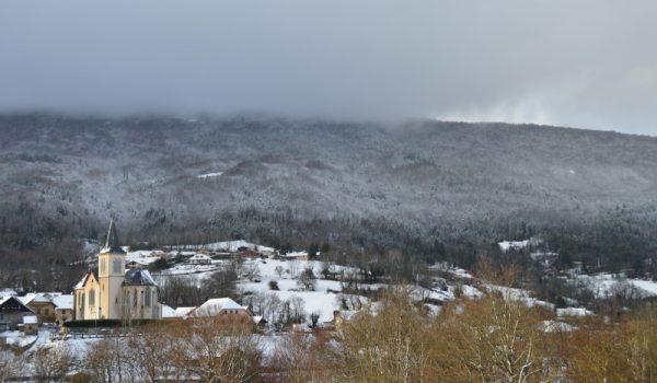La Muraz village en hiver